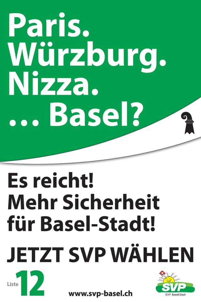 Wahlplakat der SVP