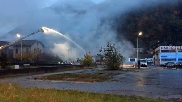 Incendi ad Arbedo.