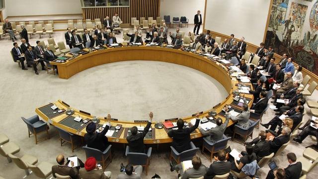 Der UNO-Sicherheitsrat tagt.
