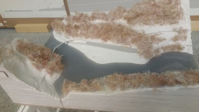 In model da sagex da la topografia en la regiun da Scuol, Damal e Landeck.