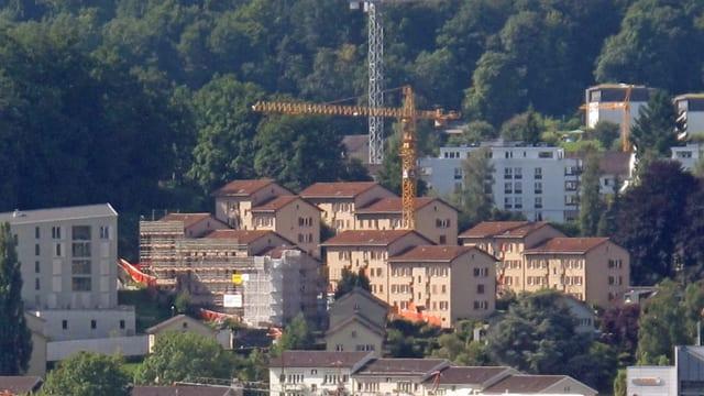 Wohnquartier in der Stadt Luzern mit Genossenschaftswohnungen
