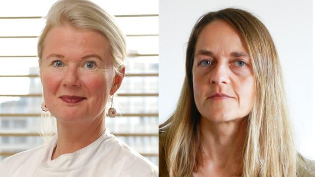 Porträtfotos der beiden Chat-Expertinnen