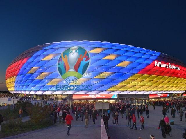 Die Allianz Arena in München.