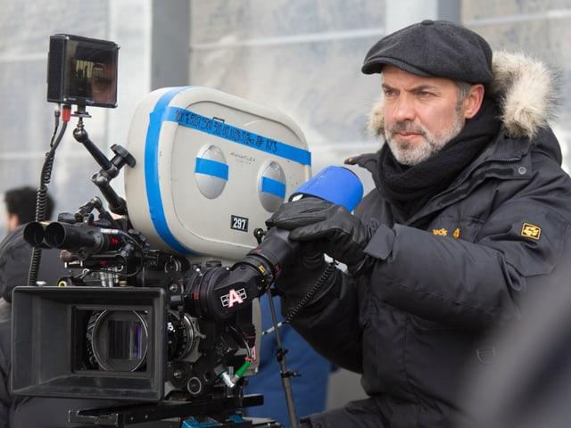 Regisseur Sam Mendes auf dem Set.
