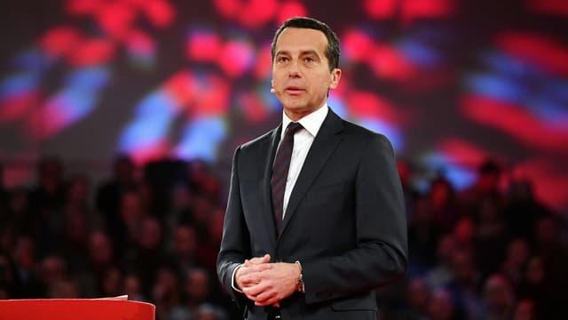 Zu sehen ist der österreichische Bundeskanzler Kern.