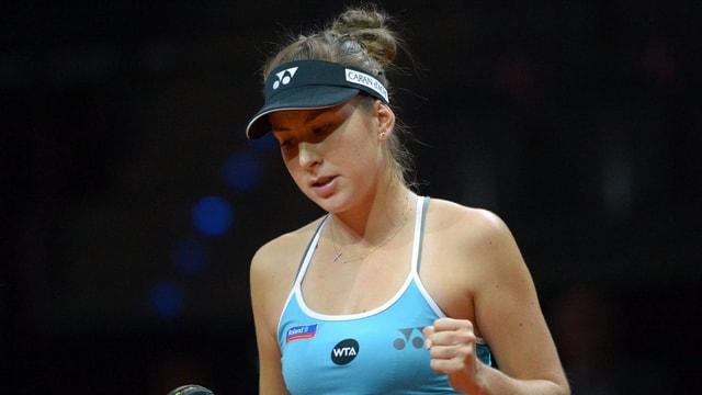 Im Doppel holte sich Belinda Bencic den Titel.
