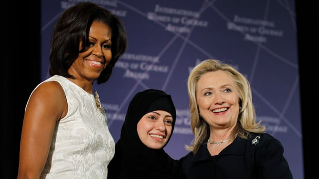 Michelle Obama, Samar Badawi, Hillary Clinton