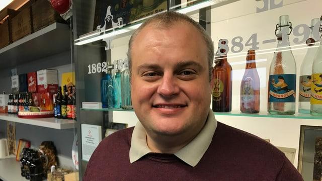 Martin Uster, Geschäftsführer der Brauerei Baar