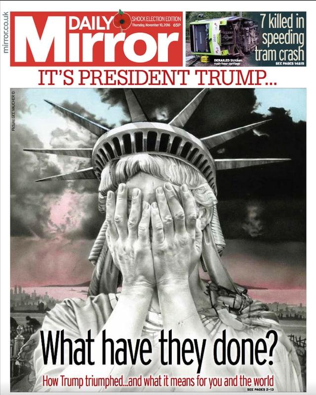 Il frontispezi da la gasetta «Daily Mirror».