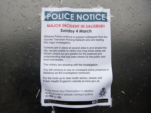 Polizeimeldung am Tatort
