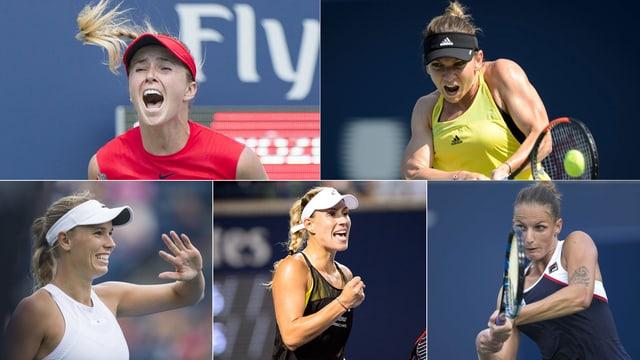 5 Tennisspielerinnen