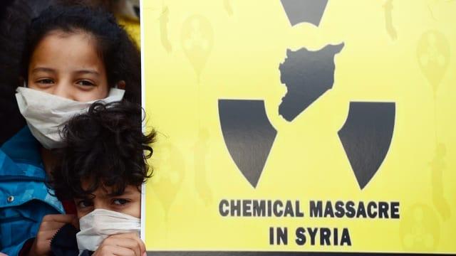 Placat cunter il diever supponì da gas toxic en Siria.