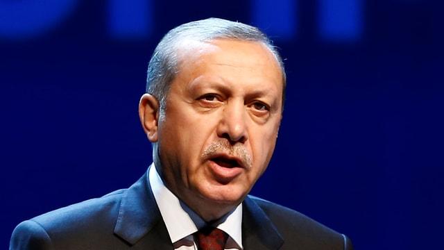 Nahaufnahme von Erdogan