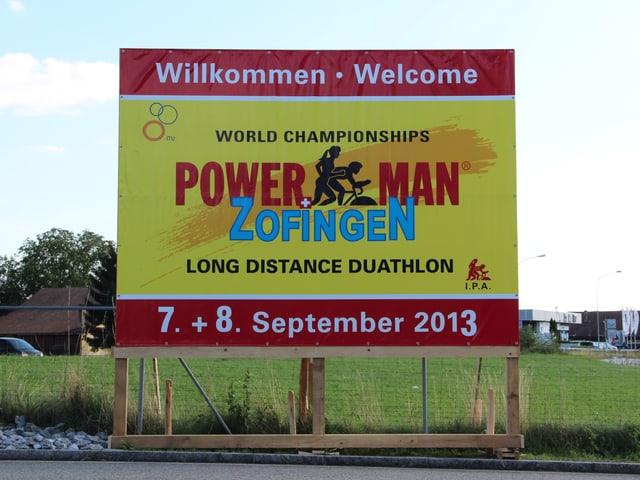 Werbeplakat für den Powerman 2013 in Zofingen.
