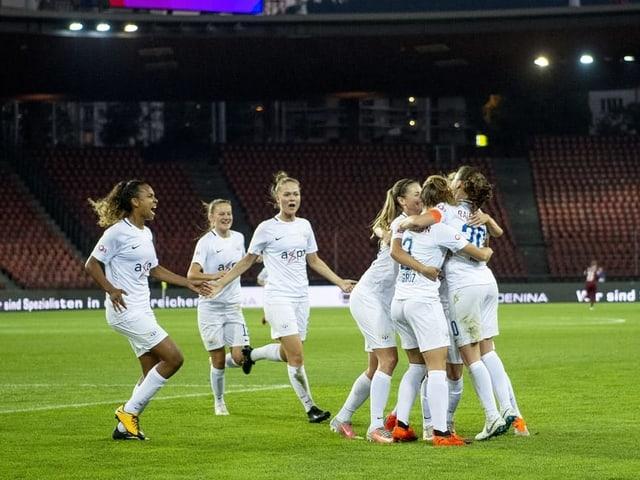 Die Spielerinnen des FC Zürich.