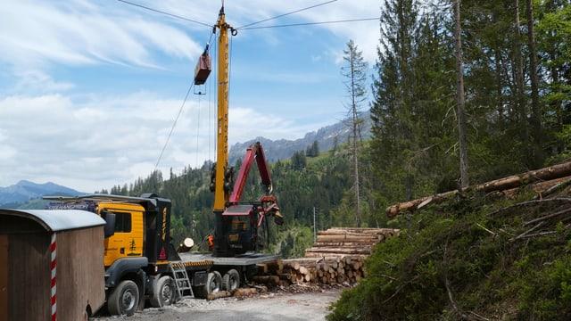 Waldschäden Güggiföhn im Gebiet Marbach