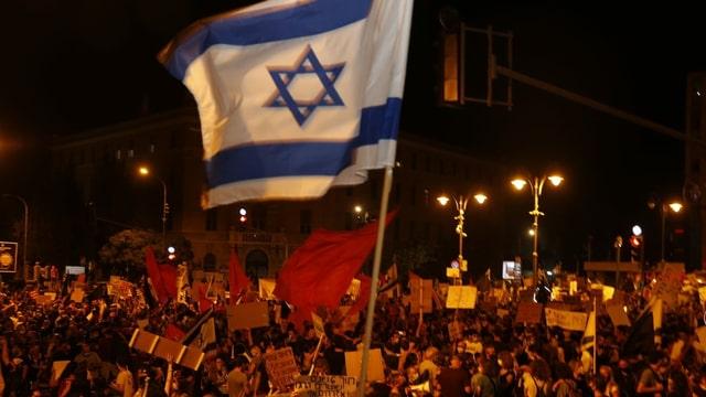 Fahne Israel.