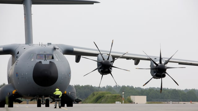 Airbus A400M am Boden