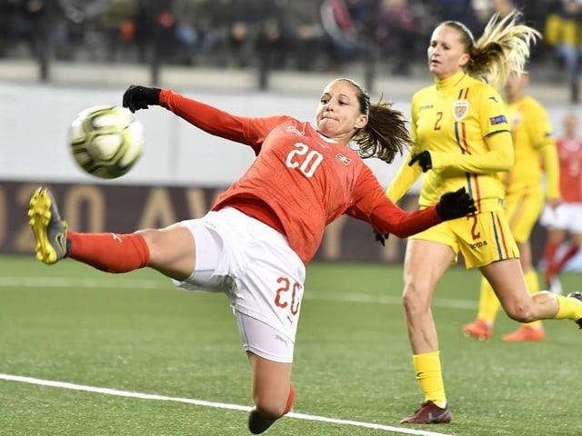 Kämpft noch um einen Platz an der EM: Fabienne Humm und das Schweizer Nationalteam.