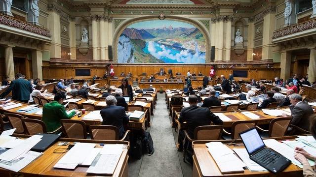 Bild des Nationalratssaals während der Session.