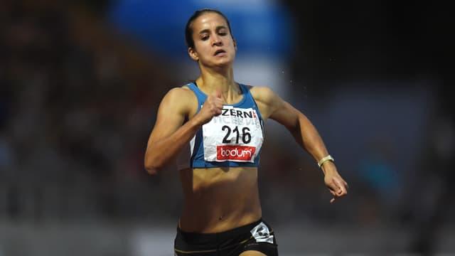 Petra Fontanive beim Endspurt.