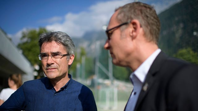 Mario Cavigelli (links) und Christian Rathgeb