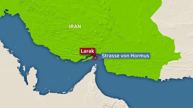 Lage der Strasse von Hormus