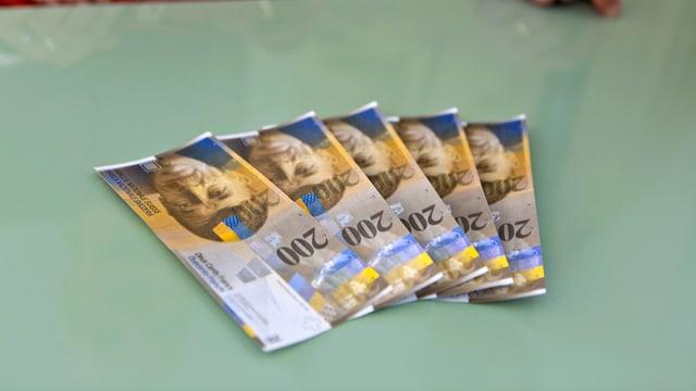 Bancnotas da 200 francs sin ina maisa.