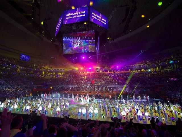 Die Abschlussfeier der Handball-WM 2015 in Qatar.
