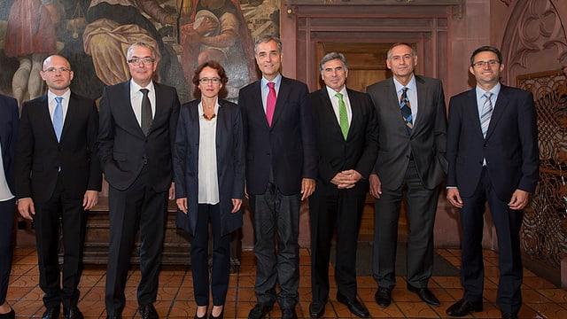 Gruppenfoto der Basler Regierung