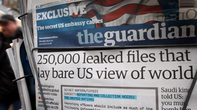 Eine Ausgabe des Guardian