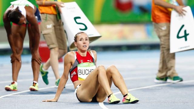 Selina Büchelsuenter sia davosa cursa sur 800 meters als gieus olimpics.