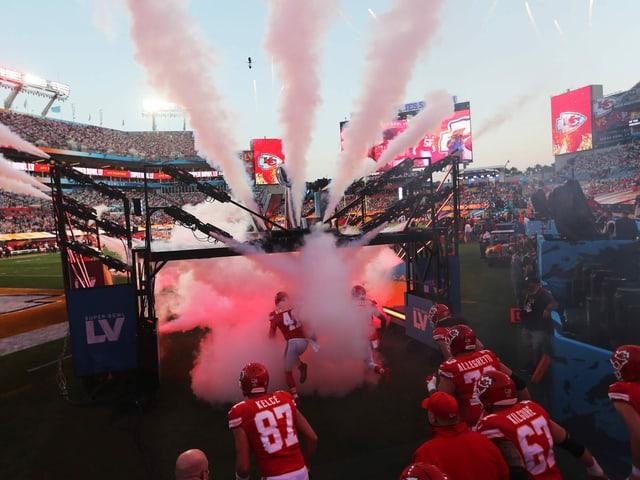 Szene des Super Bowl