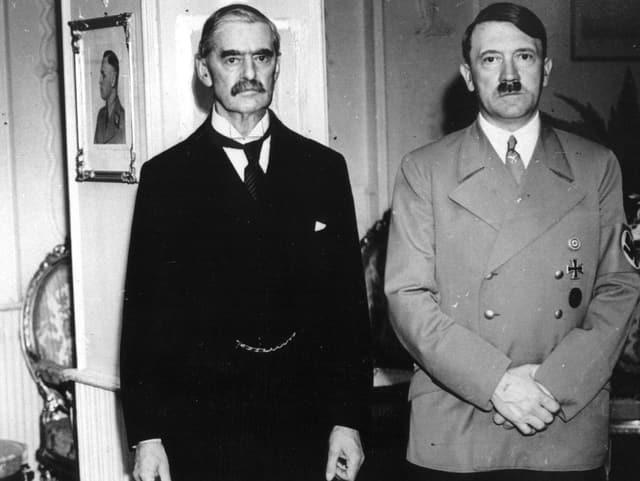 Neville Chamberlain und Adolf Hitler