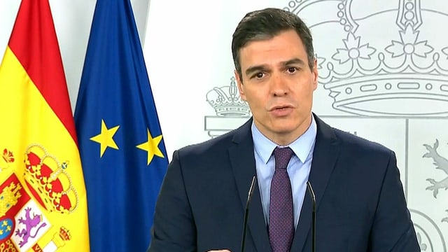 Spaniens Ministerpräsident Pedro Sánchez in der Coronavirus-Krise.