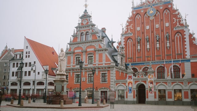 Historische Häuser in Riga.