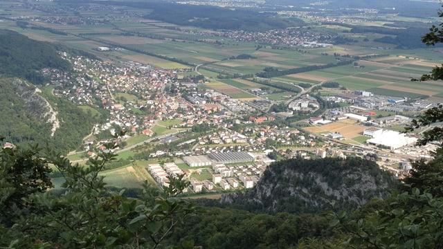 Aufnahme von oben Dorf