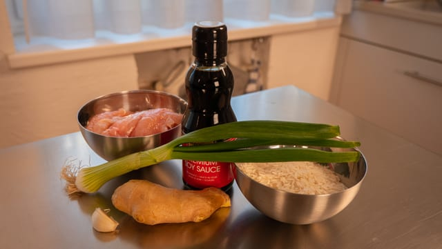Las ingredienzias per Teriyaki chicken