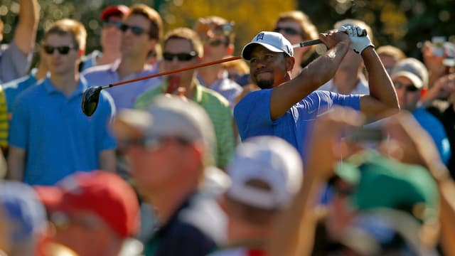 Tiger Woods in Augusta.