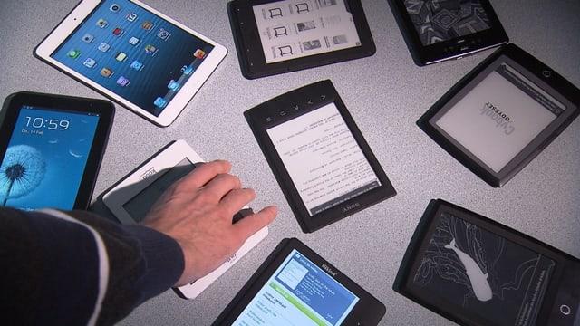 verschiedene E-Book-Reader