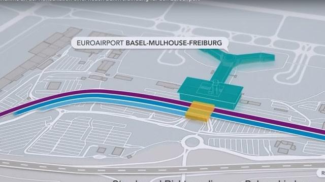 Plan des neuen Bahnhofs