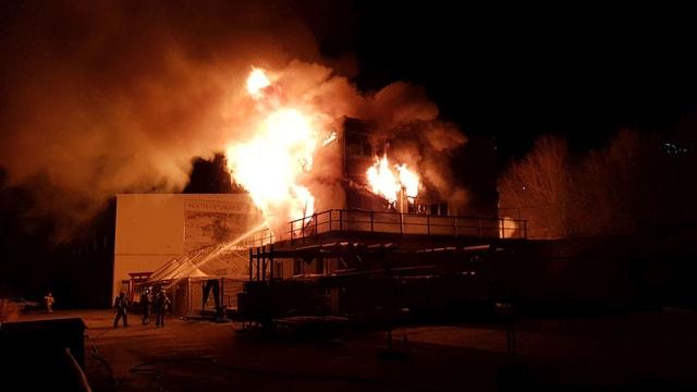 Haus im Brand