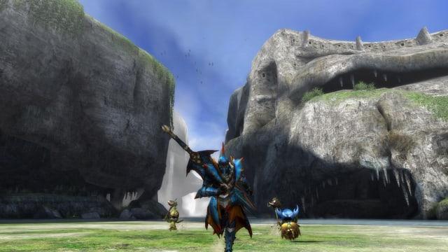 Felswände mit groben Texturen lassen das Alter des Spiels erahnen.