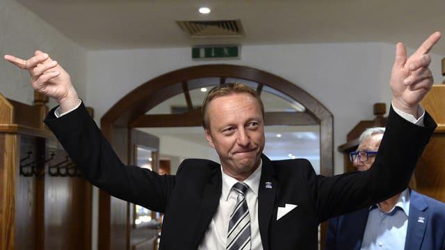 Johann Tschuertz, in dals candidats da la FPÖ ch'ha gì success.