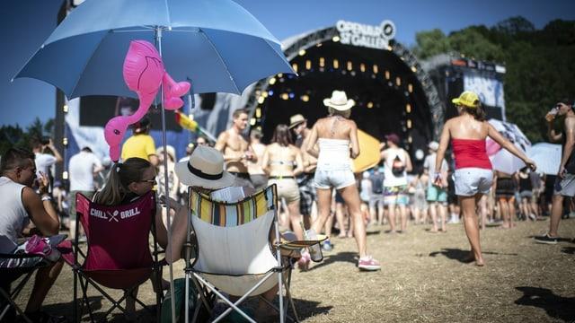 Ina scena d'in festival open air.