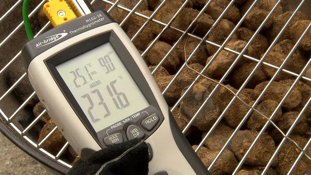 Temperaturmesser Grillkohle