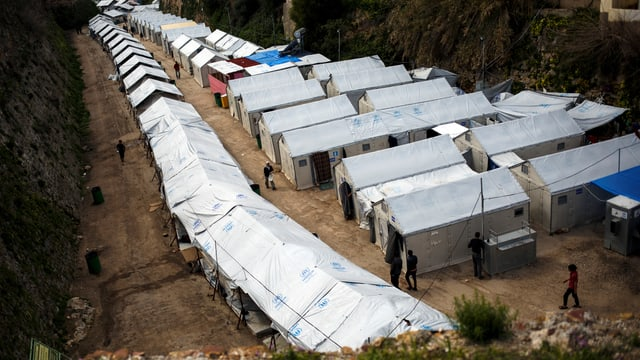 Flüchtlingslager auf Chios.