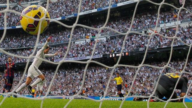 Cristiano Ronaldo trifft mittels Elfmeter zum Ausgleich.