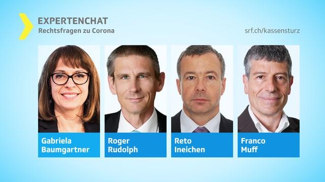 Porträts der vier Chat-Experten