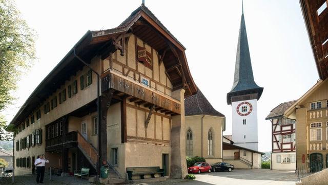 Blick auf die Kirche von Köniz.